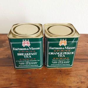 [Pair of] Vintage Fortnum & Mason tea tins